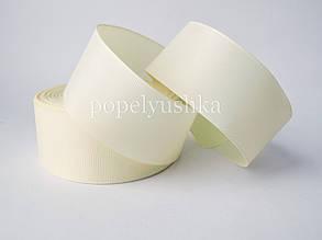 Стрічка репсова 4 см молочна БРАК