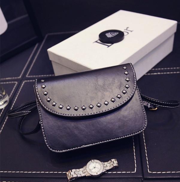 Клатч женский черный на ремешке, Мини сумка через плече на магните Кожзама,  AL-6994-10