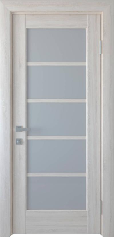 """Дверь межкомнатная остеклённая новый стиль Ностра """"Муза G"""" 60,70,80,90 см Ясень New"""
