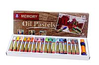 Набор масляной пастели Memory. В наборе пастель-18 шт, держатель и точилка.