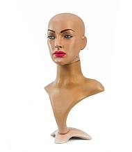 Манекен-бюст голова с макияжем