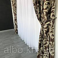 Готовые плотные шторы блэкаут 150X270 см (2 шт) ALBO Шоколадные  (SH-202-2), фото 4