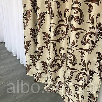 Готові штори Блекаут для залу спальні кухні, штори з принтом для кімнати спальні дитячої, штори для кухні спальні дитячої, щільні