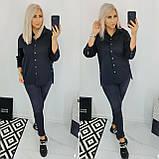 Рубашка женская коттоновая батал. Цвет: белый, чёрный, темно-синий. Размер: 48, 50, 52, 54., фото 2