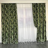 Готовые шторы  Блэкаут 150x270 cm (2 шт) ALBO Зеленые (SH-202-15), фото 2