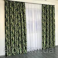 Готовые шторы  Блэкаут 150x270 cm (2 шт) ALBO Зеленые (SH-202-15), фото 6