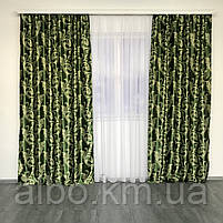 Готовые шторы  Блэкаут 150x270 cm (2 шт) ALBO Зеленые (SH-202-15), фото 7