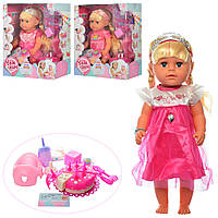 Кукла с волосами МАЛЯТКО BLS005FGH, 44 см! Шарнирные колени, тортик, кубики, свидетельство