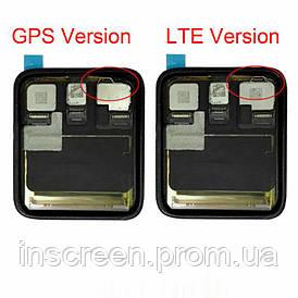 Экран (дисплей) Apple Watch 3 42mm GPS с тачскрином (сенсором) черный