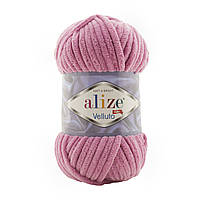 Alize Velluto (Алізе Веллуто) №98 рожевий (Пряжа велюр, нитки плюшеві для в'язання)