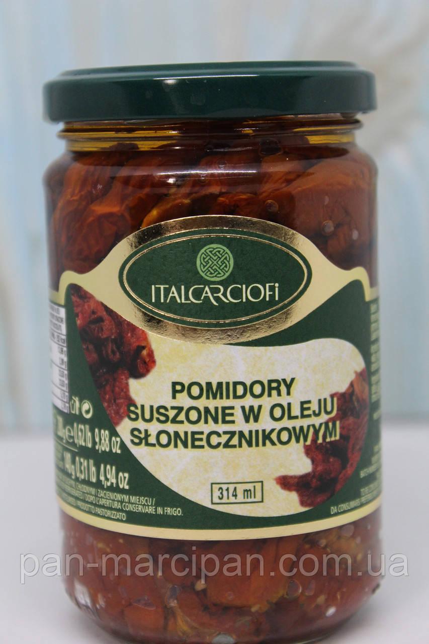 Помідори у сиров'ялені Italcarciofi 314 ml (280 г)