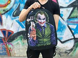 """Стильный молодежный городской рюкзак-антивор """"Джокер"""" черный"""