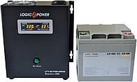 Комплект резервного питания ИБП Logicpower LPY-W-PSW-500 + АКБ LP-MG40 для 3-4ч работы газового котла, фото 1