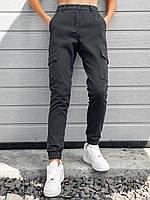 Карго брюки женские серого цвета. Базовые однотонные штаны женские серые. Спортивные брюки. , фото 1