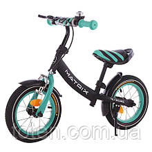 Беговел Matrix Велобег с ручным тормозом, сиденье и руль регул., 12 диам колес детский Tilly 21259