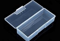 Прозрачная пластиковая коробка для хранения деталей и инструментов, 19*7,5*3,8см.