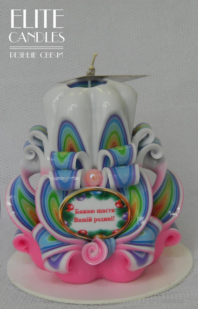 Новогодняя свеча с пожеланием
