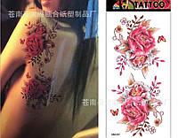 Флеш тату, переводная временная татуировка , 18,5*9 см.