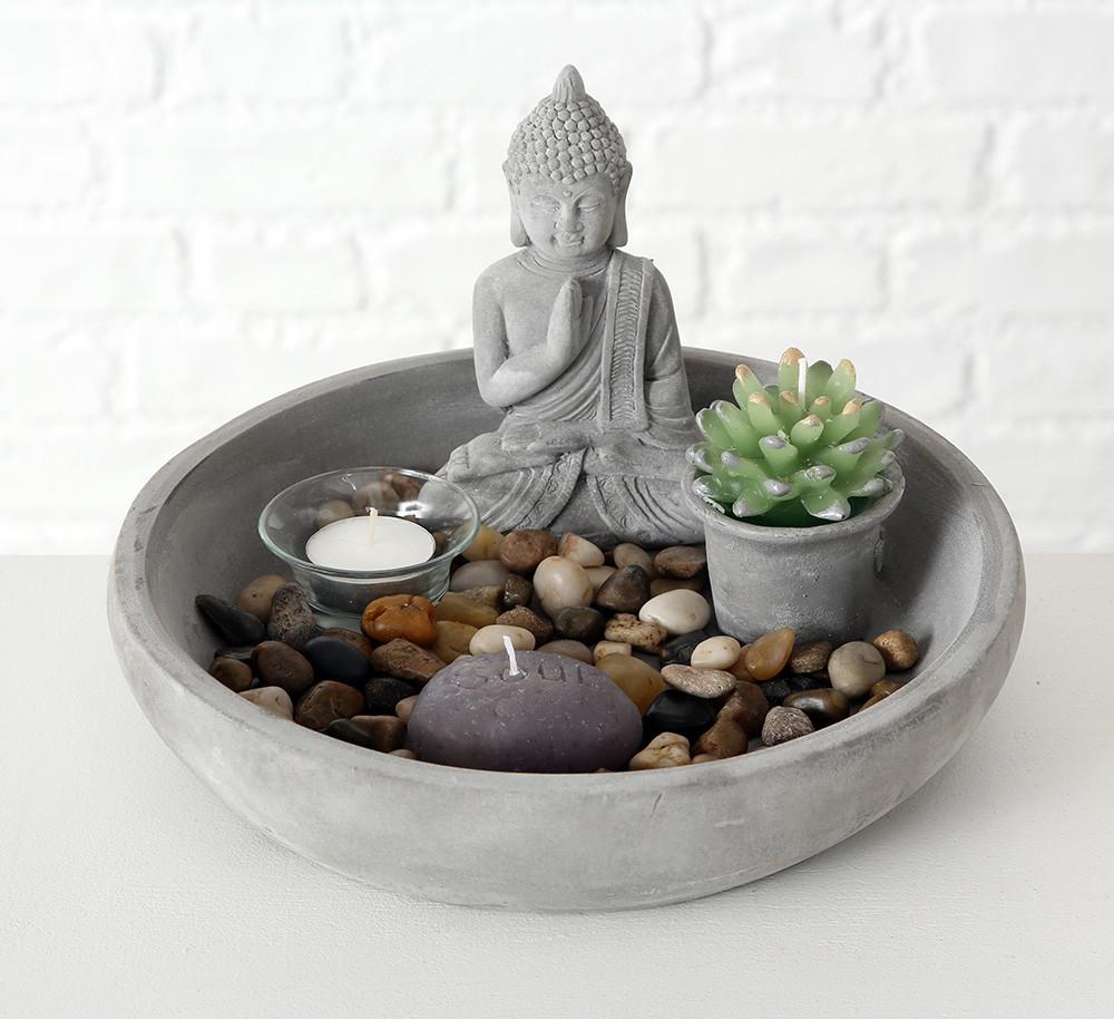 Декоративный набор Будда серый 8057700