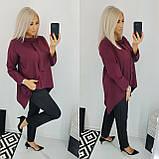 Костюм женский батал (блуза+брюки). Размер: 48, 50, 52, 54. Цвет: чёрный, марсала., фото 2