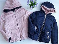 Двосторонні куртки на хутрі для дівчаток Taurus 4 роки
