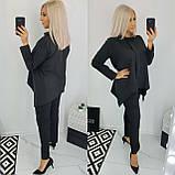 Костюм женский батал (блуза+брюки). Размер: 48, 50, 52, 54. Цвет: чёрный, марсала., фото 4