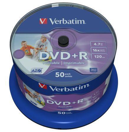 DVD+R Verbatim (43512) 4.7 GB 16x Printable Surface, 50шт.