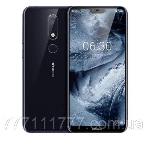 Смартфон нокиа оригинал с большим дисплеем и хорошей камерой на 2 сим карты Nokia X6 TA-1099 4/32Gb blue