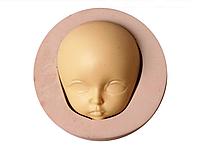 """Молд силиконовый """"Лицо куклы 1"""", 5,6*2,2см, готовый продукт 4*3,3*2 см."""