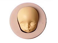 """Молд силиконовый """"Лицо куклы 2"""", 5,6*2,2см, готовый продукт 4*3,3*2 см."""