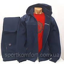 Спортивный тёплый костюм турецкий Soccer брюки прямые капюшон батал размер 5хл, фото 3