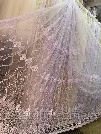 Фатиновый тюль Корт №12539 белая, фото 2