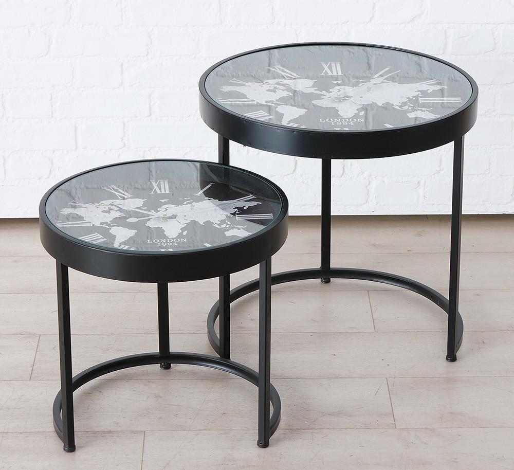 Комплект кофейных столов Мondo с часами металл D43, D53 1019953