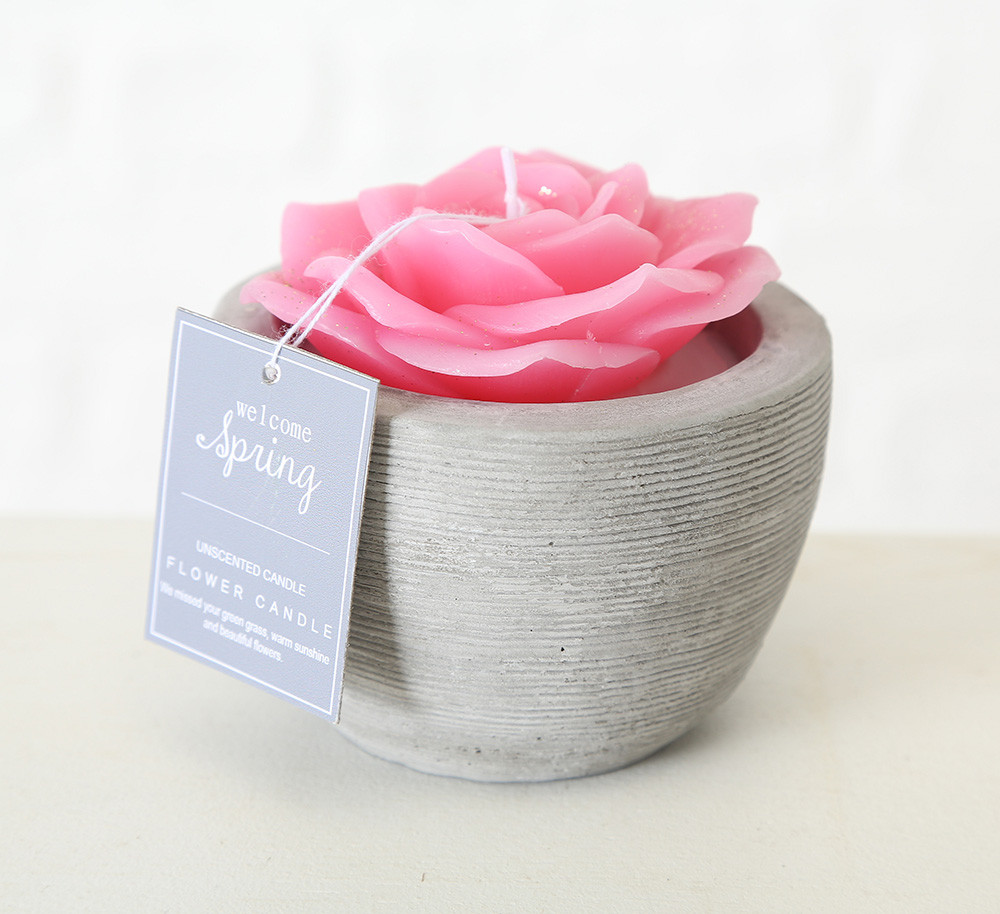 Декоративная свеча «Роза в горшке» воск h6см 1014359