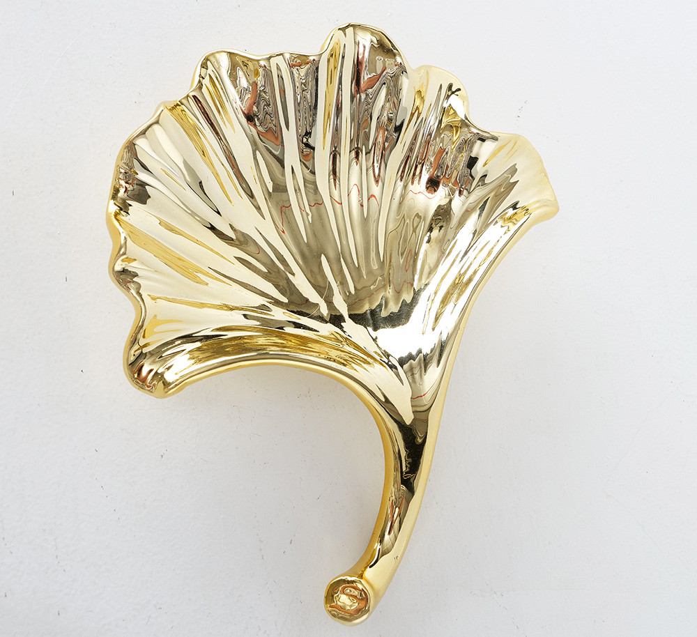 Декоративная тарель Гинкго керамика 18*16 см 2005339