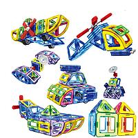"""Конструктор Магнитный Play Smart 2429 """"Цветные магниты"""" на 54 детали"""