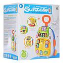 Игровой детский музыкальный чемодан на колесах — 2 цвета, звук, свет, трещотка CY-7005B, фото 3