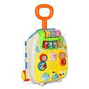 Игровой детский музыкальный чемодан на колесах — 2 цвета, звук, свет, трещотка CY-7005B, фото 4