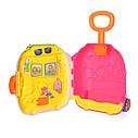 Игровой детский музыкальный чемодан на колесах — 2 цвета, звук, свет, трещотка CY-7005B, фото 6