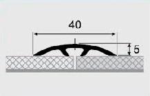 Порог алюминиевый 19А 1,8 метра дуб белый 3х40мм скрытое крепление, фото 2