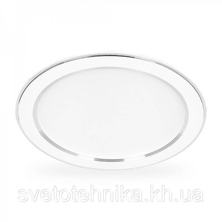 Встраиваемый cветодиодный светильник Feron AL527 18w 4000К серебро