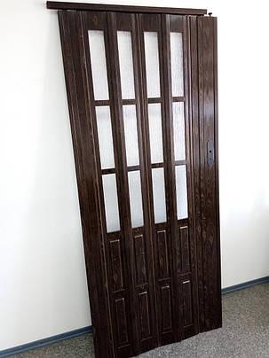 Дверь гармошка полуостекленные, 860х2030х12мм, доставка по Украине, фото 2