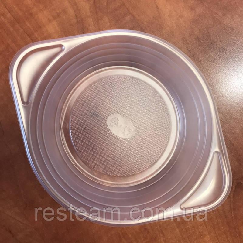 Тарелка однор. глубокая 500 мл РР прозрачная