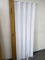 Ширма - біла гармошка 820х2030х0,6 мм гармошка розсувні міжкімнатні пластикова глуха
