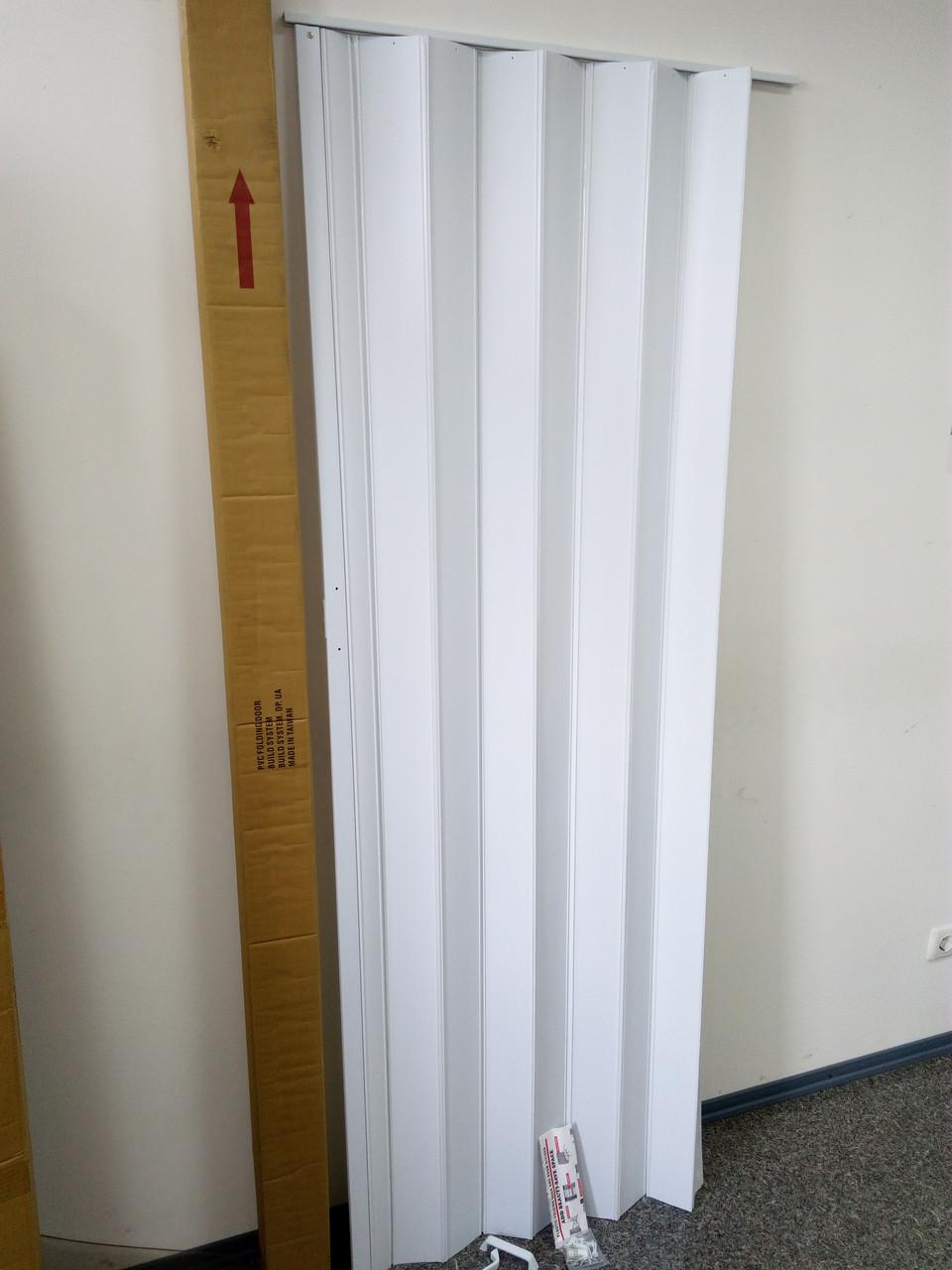 Ширма - гармошка белая 820х2030х0,6 мм гармошка раздвижная межкомнатная пластиковая глухая - фото 1