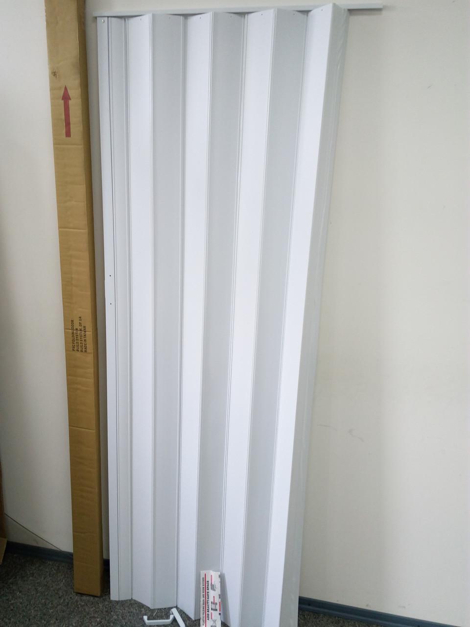 Ширма - гармошка белая 820х2030х0,6 мм гармошка раздвижная межкомнатная пластиковая глухая - фото 2