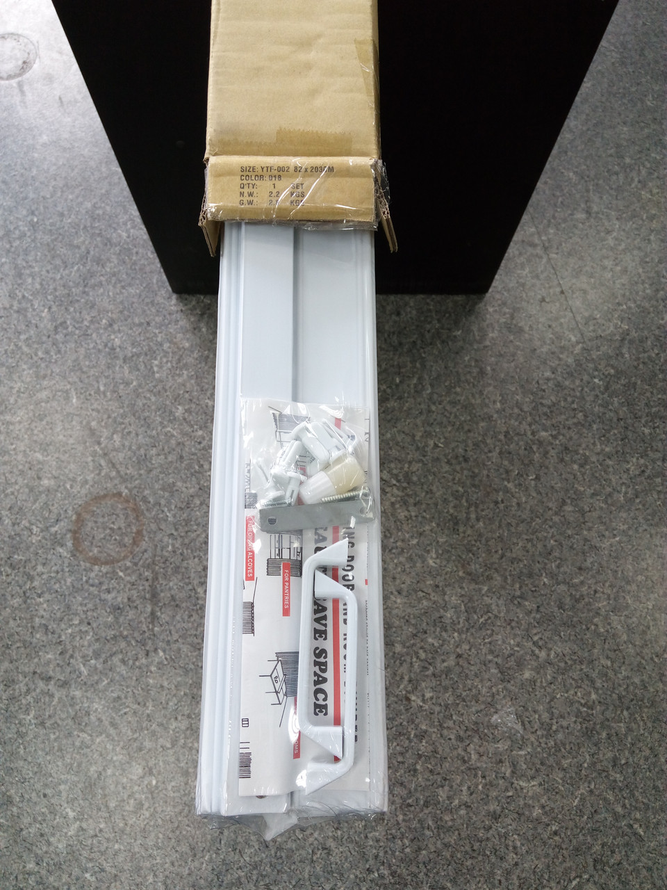 Ширма - гармошка белая 820х2030х0,6 мм гармошка раздвижная межкомнатная пластиковая глухая - фото 3