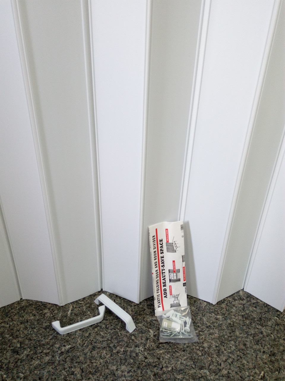 Ширма - гармошка белая 820х2030х0,6 мм гармошка раздвижная межкомнатная пластиковая глухая - фото 4