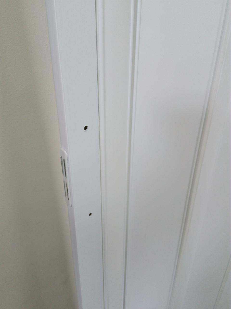 Ширма - гармошка белая 820х2030х0,6 мм гармошка раздвижная межкомнатная пластиковая глухая - фото 6