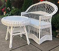 Диван и стол плетеный  Мебель из лозы диваном  мебель плетеная белая со столом журнальным